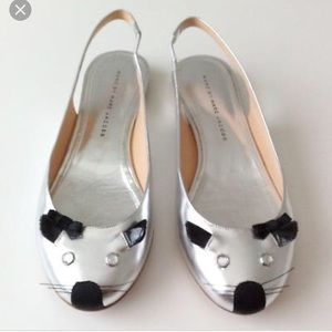 💖 HP 🐭 Marc by Marc Jacobs Mouse Flats Silver 37